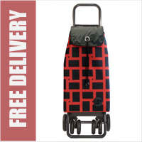 Rolser Pack Geometrik Tour Swivelling Front Wheels Shopping Trolley Black/Red