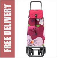 Rolser Pack Taku Floral Print Tour Swivelling Front Wheels Shopping Trolley
