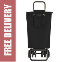Rolser Pack Tour SuperBag Black Swivelling Front Wheels Shopping Trolley