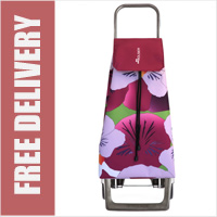 Rolser Jet Taku 2 Wheel Shopping Trolley Floral Print