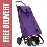 Rolser Pack Original 4 Wheel Shopping Trolley Purple