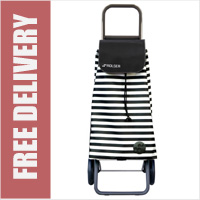 Rolser Pack Marina 2 Wheel Shopping Trolley Black/White
