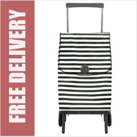 Rolser Plegamatic Marina Folding Trolley Black/White