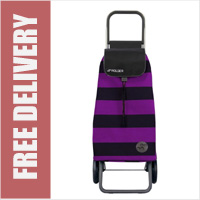 Rolser Pack Mono 2 Wheel Shopping Trolley Black/Purple