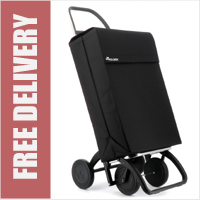 Rolser Jean 4 Wheel Shopping Trolley Black