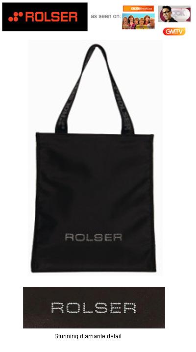 c01439613a3 Rolser Joia With Swarovski Diamante Shopping Bag, Shopping Bags