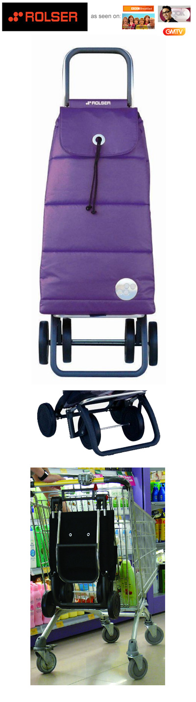 Rolser Pack Polar 4 Wheel Shopping Trolley Purple