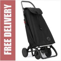 Rolser Pack 4 Wheel Shopping Trolley Black