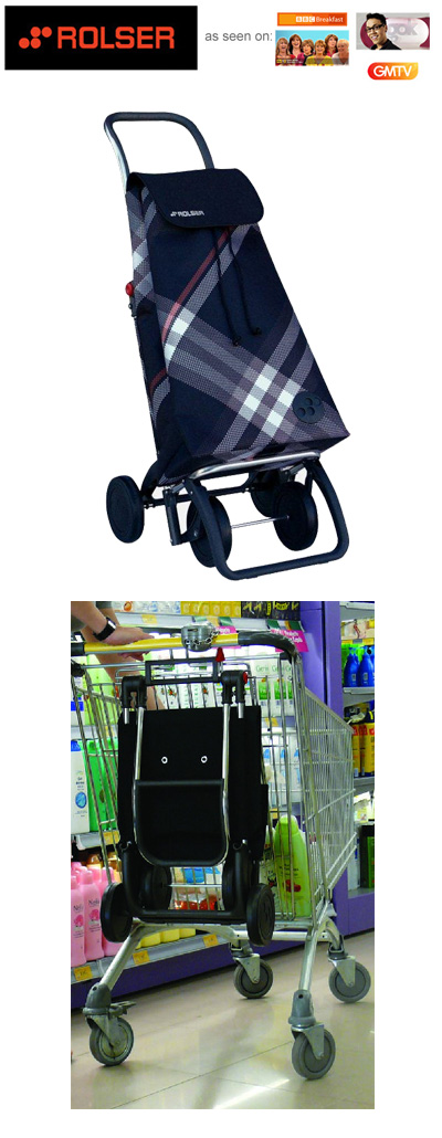 Rolser Pack Bora 4 Wheel Shopping Trolley Black