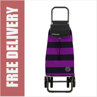 Rolser Pack Mono 4 Wheel Shopping Trolley Purple/Black