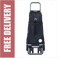 Rolser Pack Tour Angel Swivelling Front Wheels Shopping Trolley Black