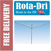 Rota-Dri 3 Arm 45mtr Rotary Washing Line - WITH FREE GROUND POST