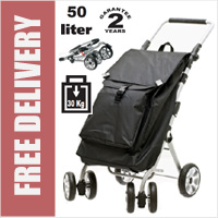 Secc Capetown Limited Edition Ultimate 6 Wheel Swivel Shopping Trolley (optional park brake)