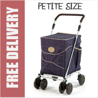 Sholley Sholeco Shopping Trolley in Deluxe Mulberry Blue Check (Petite Size)