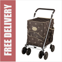 Sholley Sholeco Shopping Trolley in Deluxe Chocolate Brown (Petite Size)