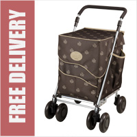 Sholley Sholeco Shopping Trolley in Deluxe Chocolate Brown (Standard Size)