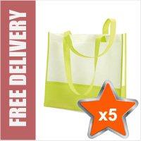 5 x Standard Reusable Shopping Bags in Non Woven Material