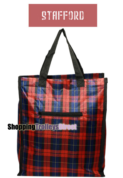 Stafford Reusable Zippered Shopping Bag Shopper With Front