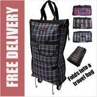 18e4f5501b Stafford Lightweight Folding 2 Wheel Shopping Trolley Travel Bag