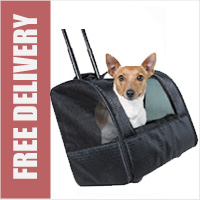 Trixie Friends On Tour Elegance Dog Trolley / Carrier Bag on Wheels