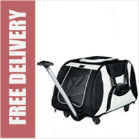 Trixie Friends On Tour Luxe Dog Stroller Trolley with Fully Retractable Telescopic Handle
