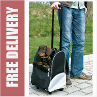 Trixie Friends On Tour Dog Trolley Rucksack Carrier with Extendible Trolley Handle on Wheels