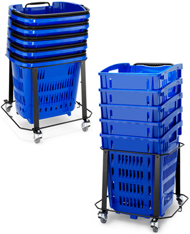 Trolley Basket Stacker / Plinth with Wheels
