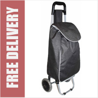 Limited Edition 2 Wheel Shopping Trolley Twill Black