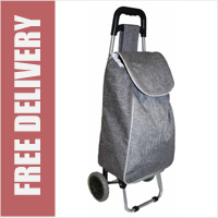 Limited Edition 2 Wheel Shopping Trolley Twill Grey