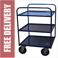 Two Or Three Shelf Trolley with Pneumatic Castors