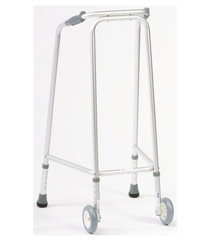 Ultra narrow walking frame with wheels - Medium