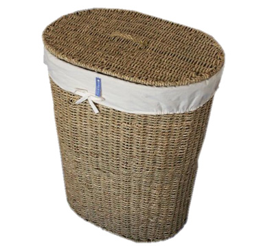 Wicker Laundry Linen Basket With Lid And Liner Seagrass Wicker Laundry Baskets