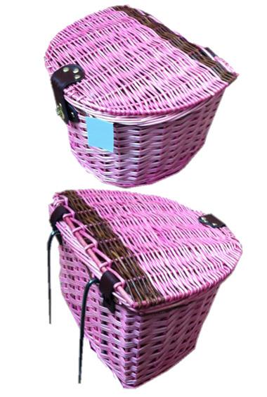 Wicker Bike Basket With Lid Pink Wicker Bike Baskets