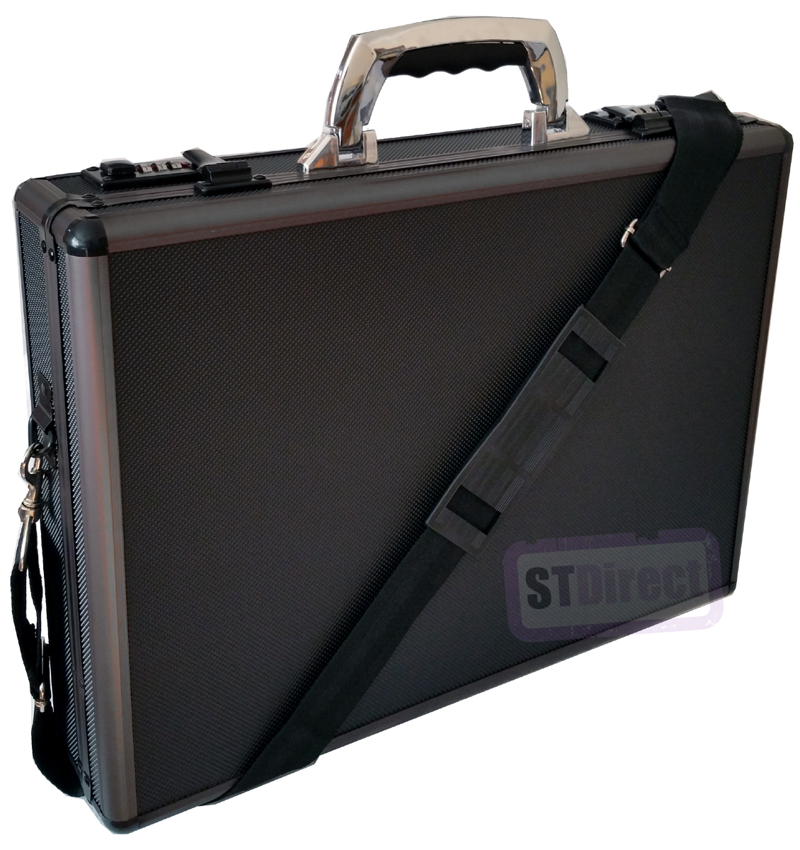 Pro Black Aluminium Laptop Padded Briefcase Attache Case ...