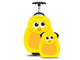 Cuties & Pals Chico the Chick - Hard Shell Backpack & Trolley Case Set