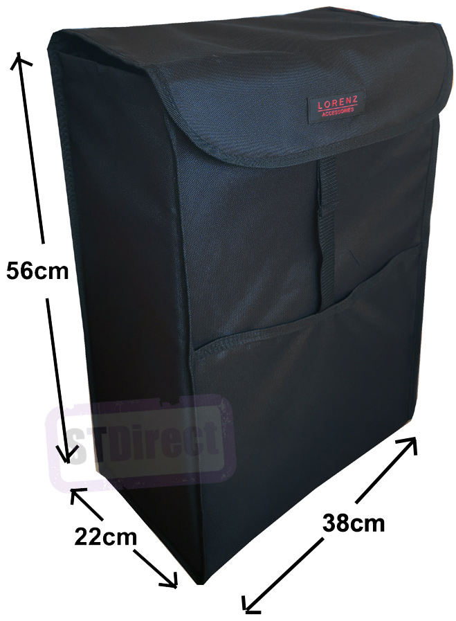 Deluxe Replacement Spare Bag for Two Wheeled Shopping Trolley Frame Plain Black (56 x 38 x 22cm)