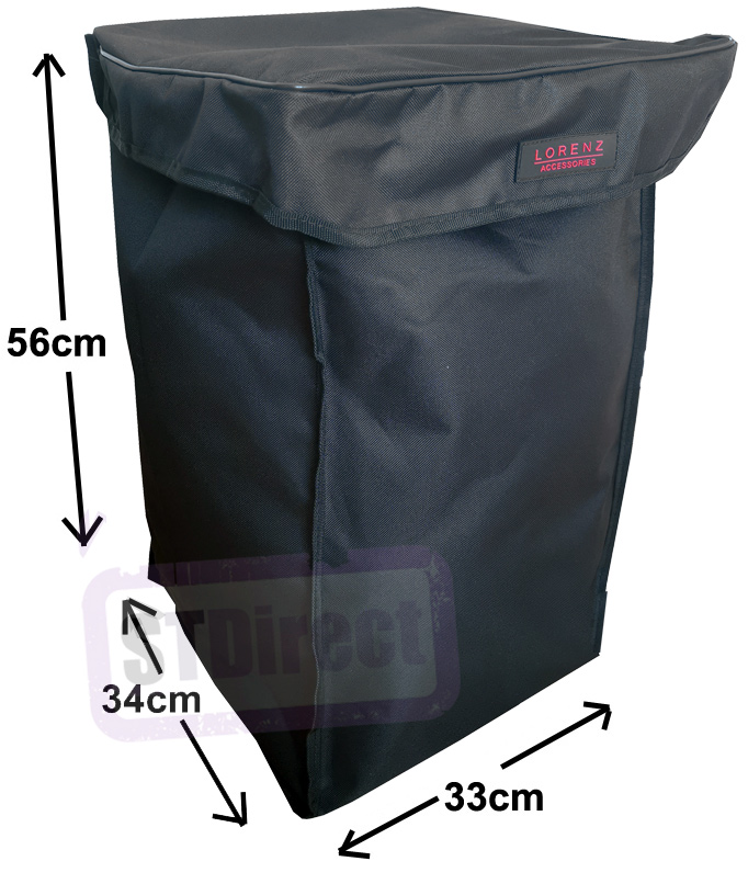 Deluxe Replacement Spare Bag for 4 or 6 Wheel Cage Trolley Plain Black (56 x 34 x 33cm)