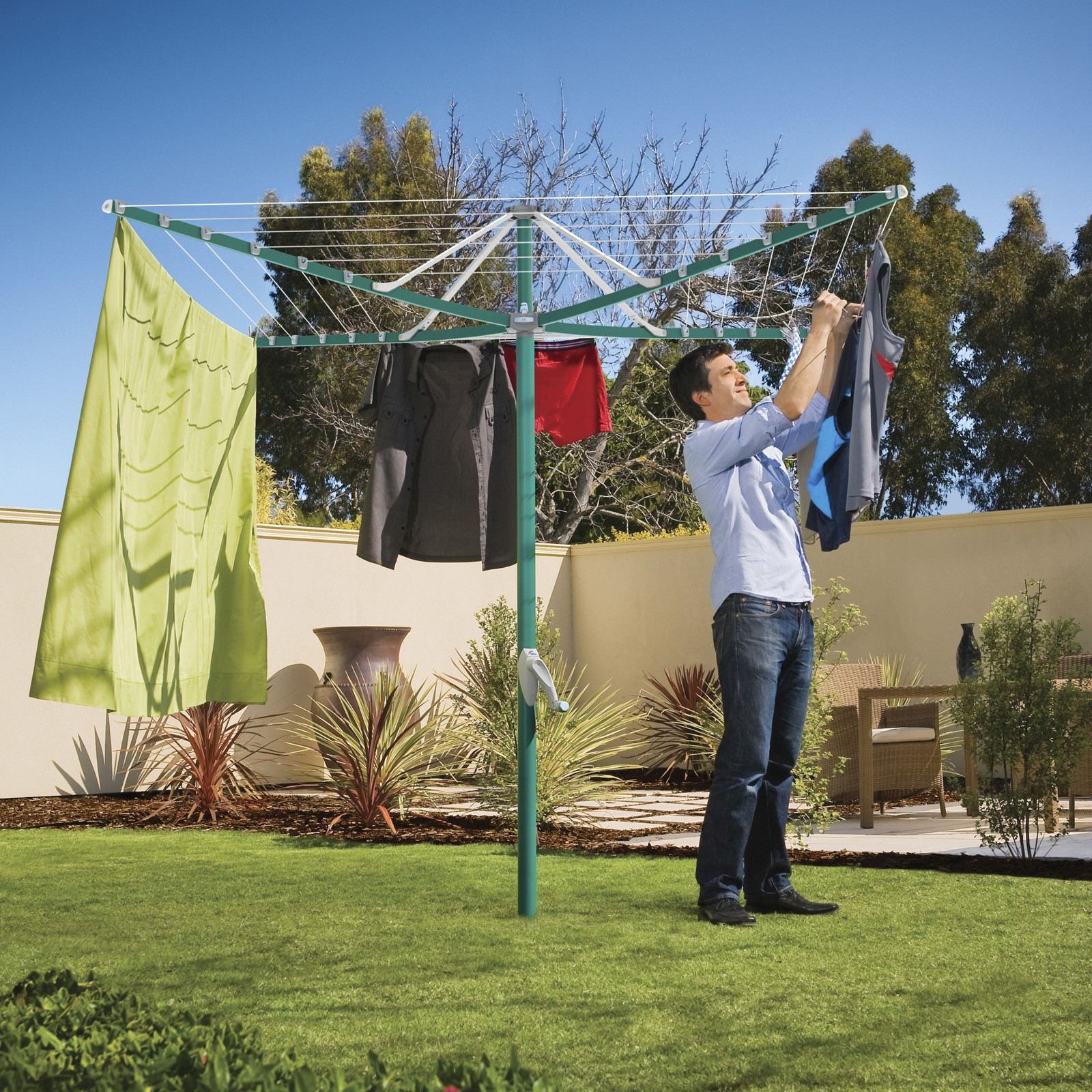 Outdoor Clothes Dryer ~ Hills rotary arm clothes dryer airer outdoor washing