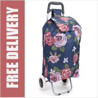 Limited Edition Large Capacity 2 Wheel Shopping Trolley Rosa Red Print