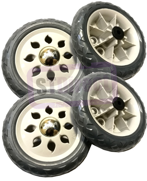 Marketeer 4 x Replacement Spare Wheels for Shopping Trolleys and Carts