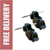 Pair of Replacement Double Axle Fittings for 6 Wheel Swivel Shopping Trolley Frame