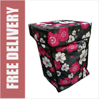 Floral Print Replacement Spare Bag for 4 or 6 Wheel Cage Trolleys (BAG ONLY)