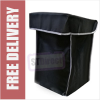 Black with Grey Trim Replacement Spare Bag for 4 or 6 Wheel Cage Trolleys (BAG ONLY)