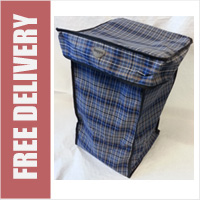 Hoppa Check Print Replacement Spare Bag for 4 or 6 Wheel Cage Trolleys (BAG ONLY)