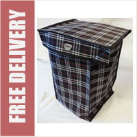 Hoppa Check Print Replacement Spare Bag for 4 or 6 Wheel Cage Trolleys (BAG ONLY) NAVY CHECK ONLY