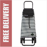 Rolser Mountain Marina 4 Wheel Shopping Trolley Black/White