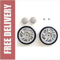 /& FREE DELIVERY Spare Shopping Trolley Wheels 2 x Replacement ONE PAIR ONLY