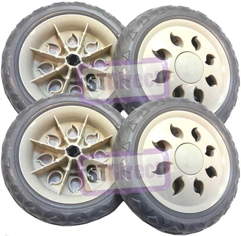 4 x Replacement Spare Wheels for Shopping Trolleys and Carts