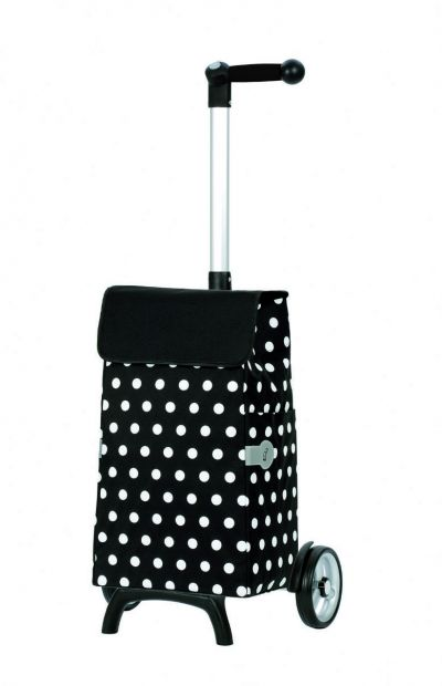 Andersen Unus Shopper Fun Elfi Black 2 Wheel Shopping Trolley with 3 Way Grip System