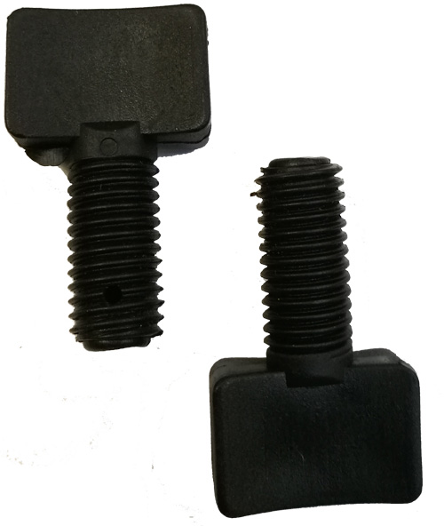 Pair of Replacement Wing Nuts to Tighten Adjustable Handle on Shopping Trolley